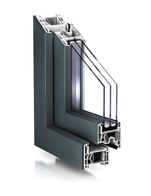 Coloured window frames
