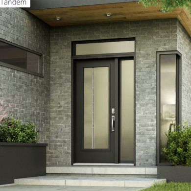 front door brown with sideline