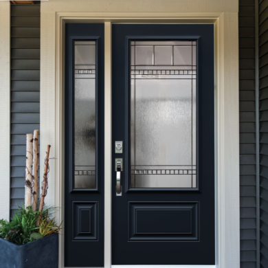Chanelle Steel Door With Sidelite