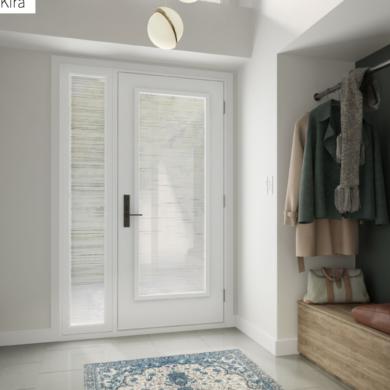 white full glass entry door