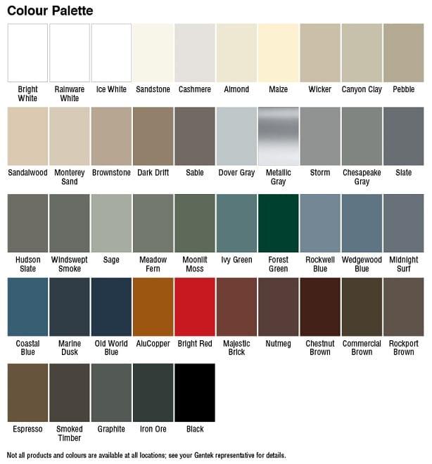 Garage Door Capping Colours